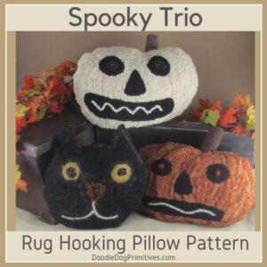 Halloween Hooked Pillows