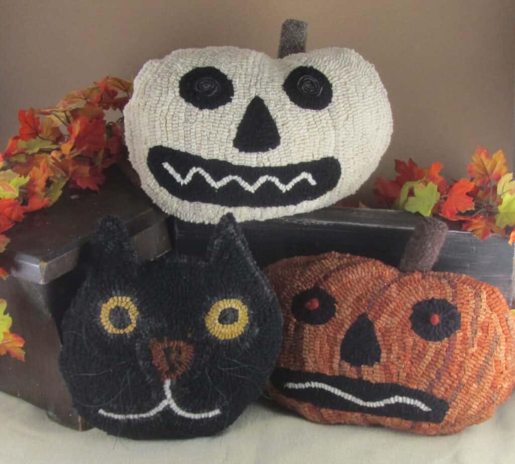 Spooky Trio Rug Hooking Pattern