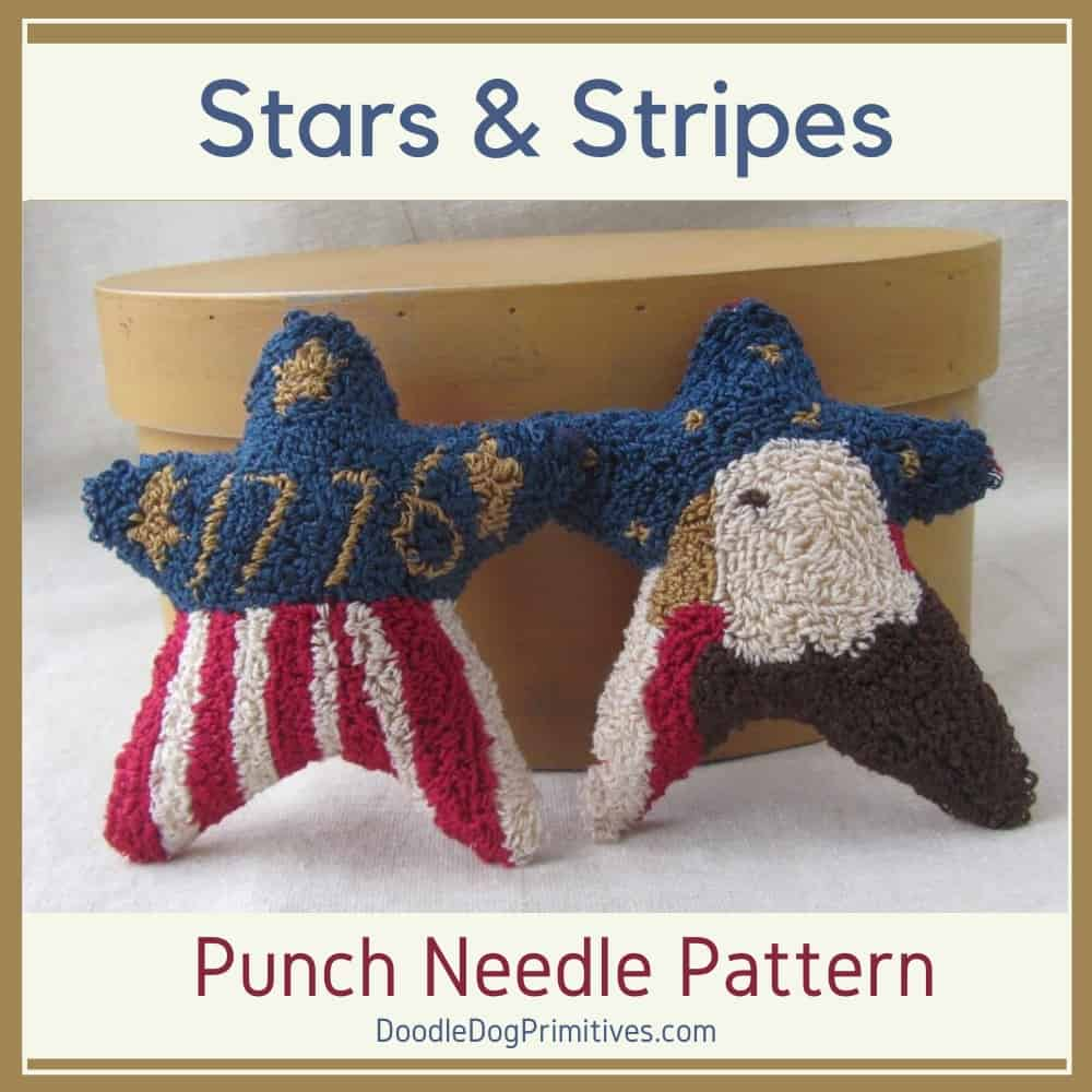 stars and stripes punch needle pattern