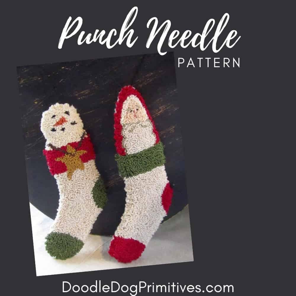 stocking punch needle pattern