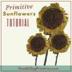 primitive sunflowers tutorial