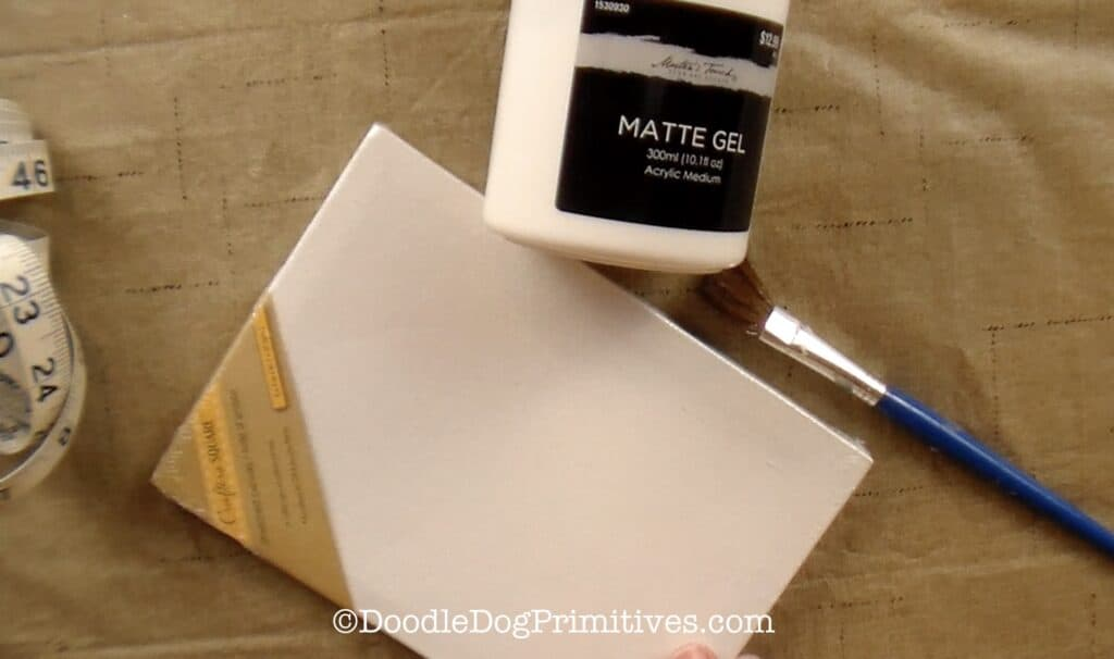 supplies for picture transfer onto canvas