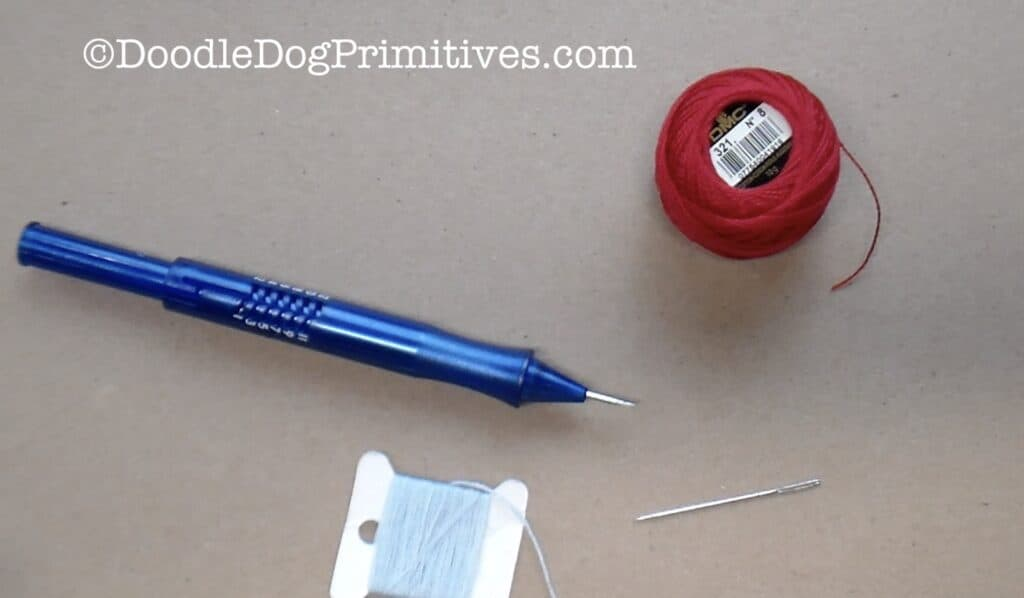 supplies to thread punch needle
