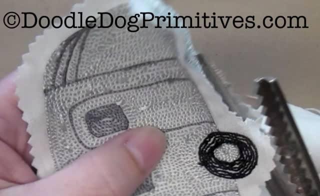 trim the empty weavers cloth
