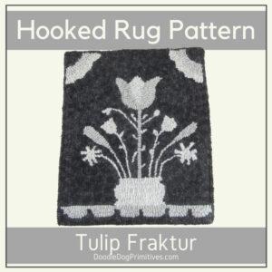 Tulip Fraktur Hooked Rug Pattern