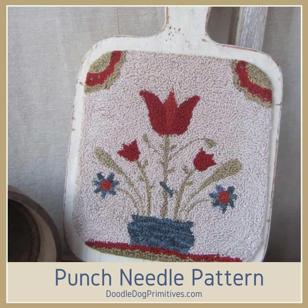 tulip traktur punch needle pattern