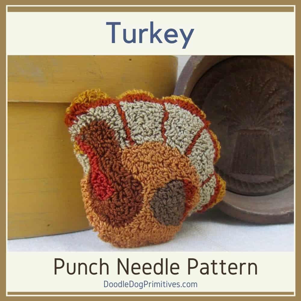 turkey bowl filler punch needle pattern