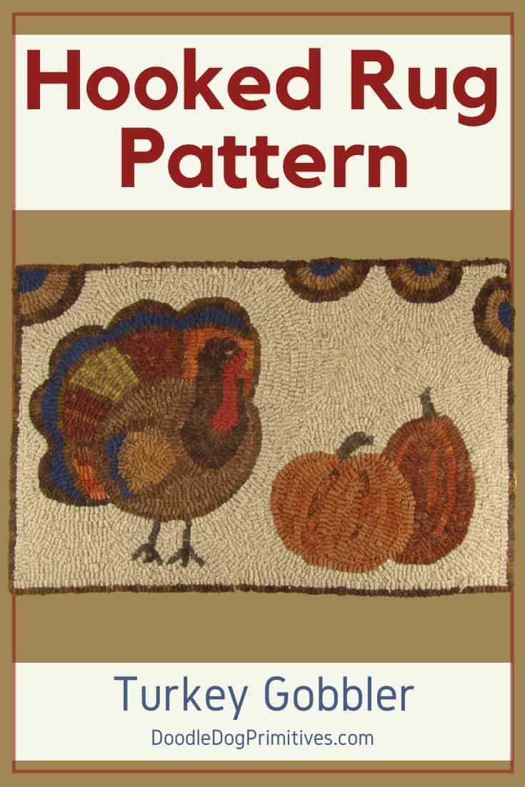 Primitive Turkey Hooked Rug Pattern