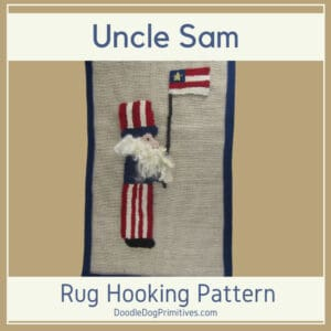 Uncle Sam Hooked Rug Pattern