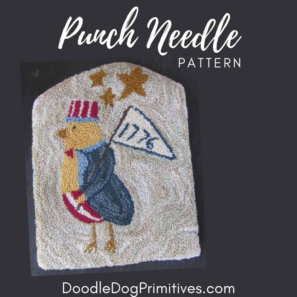 uncle sam chick punch needle pattern