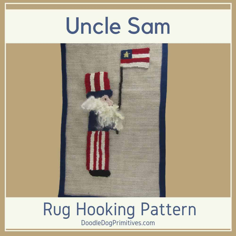 Uncle Sam Hooked Rug Pattern