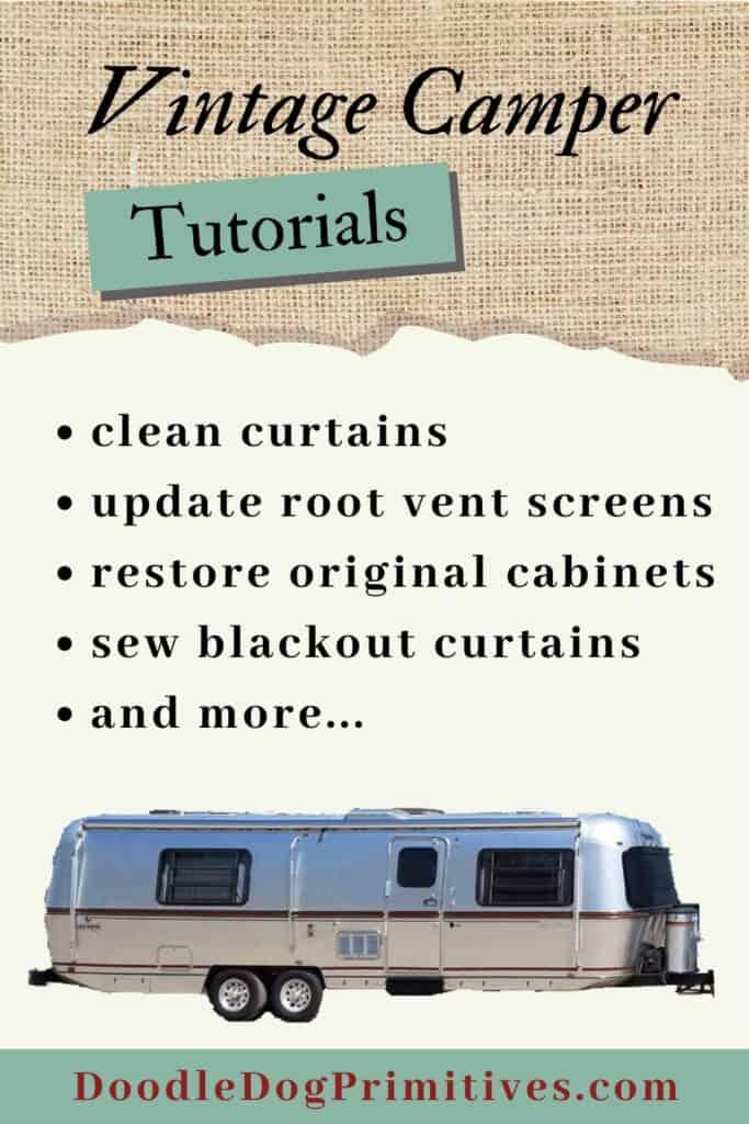 vintage camper tutorials