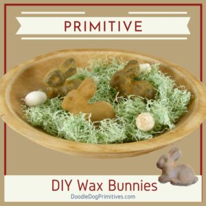 DIY Primitive wax bunnies