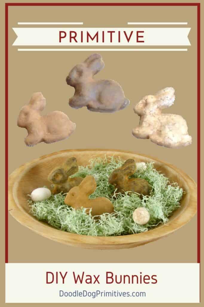 primitive wax bunnies tutorial