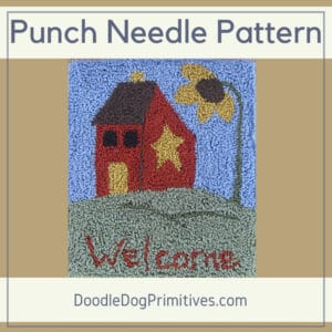 Welcome Summer Punch Needle Pattern