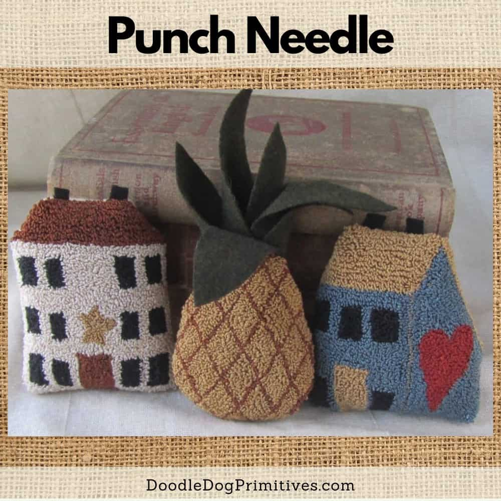 Welcome Home punch needle pattern