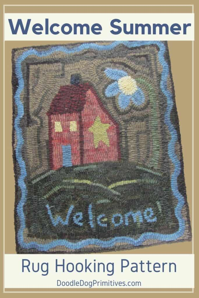 Welcome Summer Rug HOoking Pattern