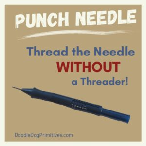 thread a punch needle without a threader