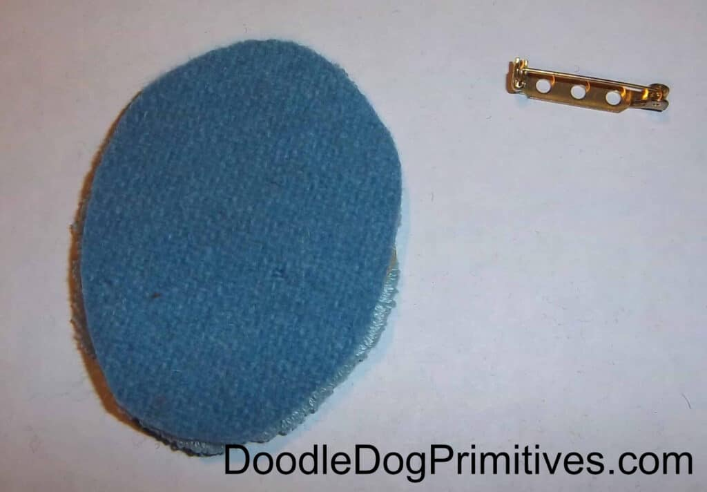 wool and pinback
