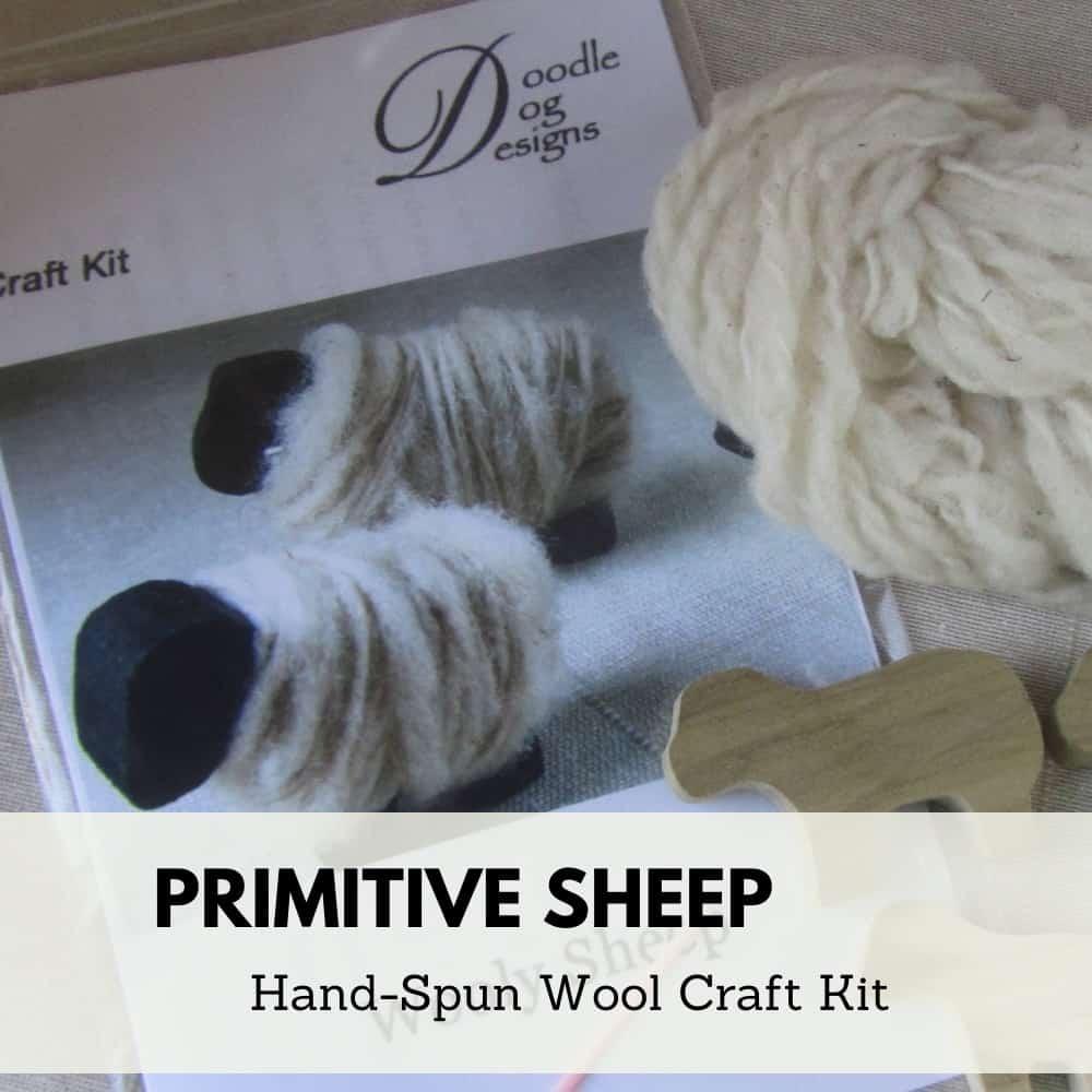 Primitive Wool Sheep Craft Kit