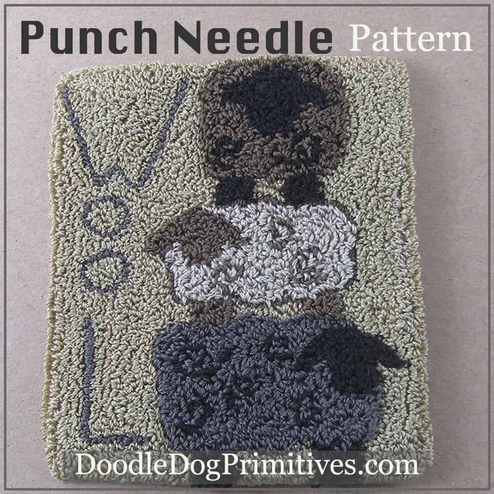 Stacked Sheep Punch Needle Pattern