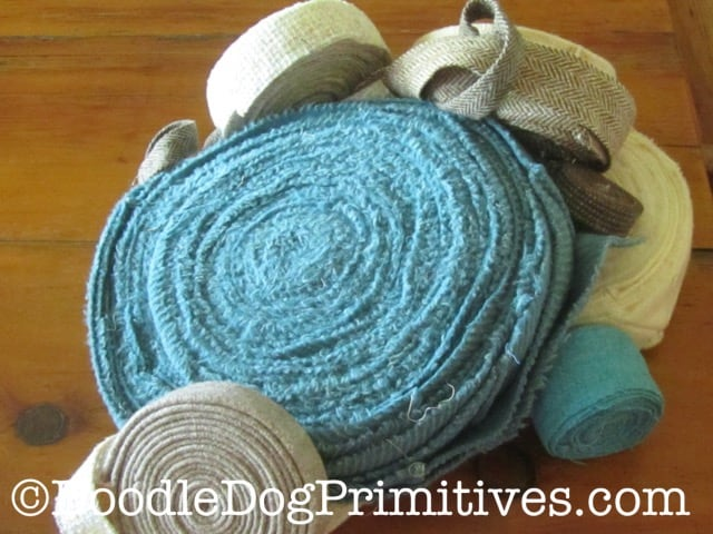 wool cut strips